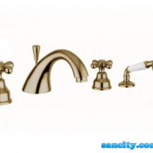 Смеситель для ванной Emmevi DECO ceramica золото ОR121120