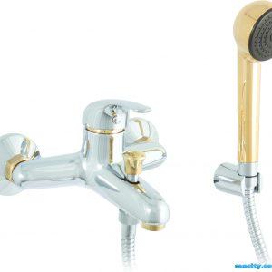 Смеситель для ванной Emmevi GIGLIO хром-золото CO8001G
