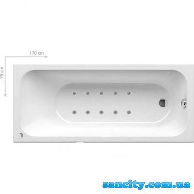 Гидромассажная ванна Ravak Chrome 170x75 Relax BASE C741000000+RB0001